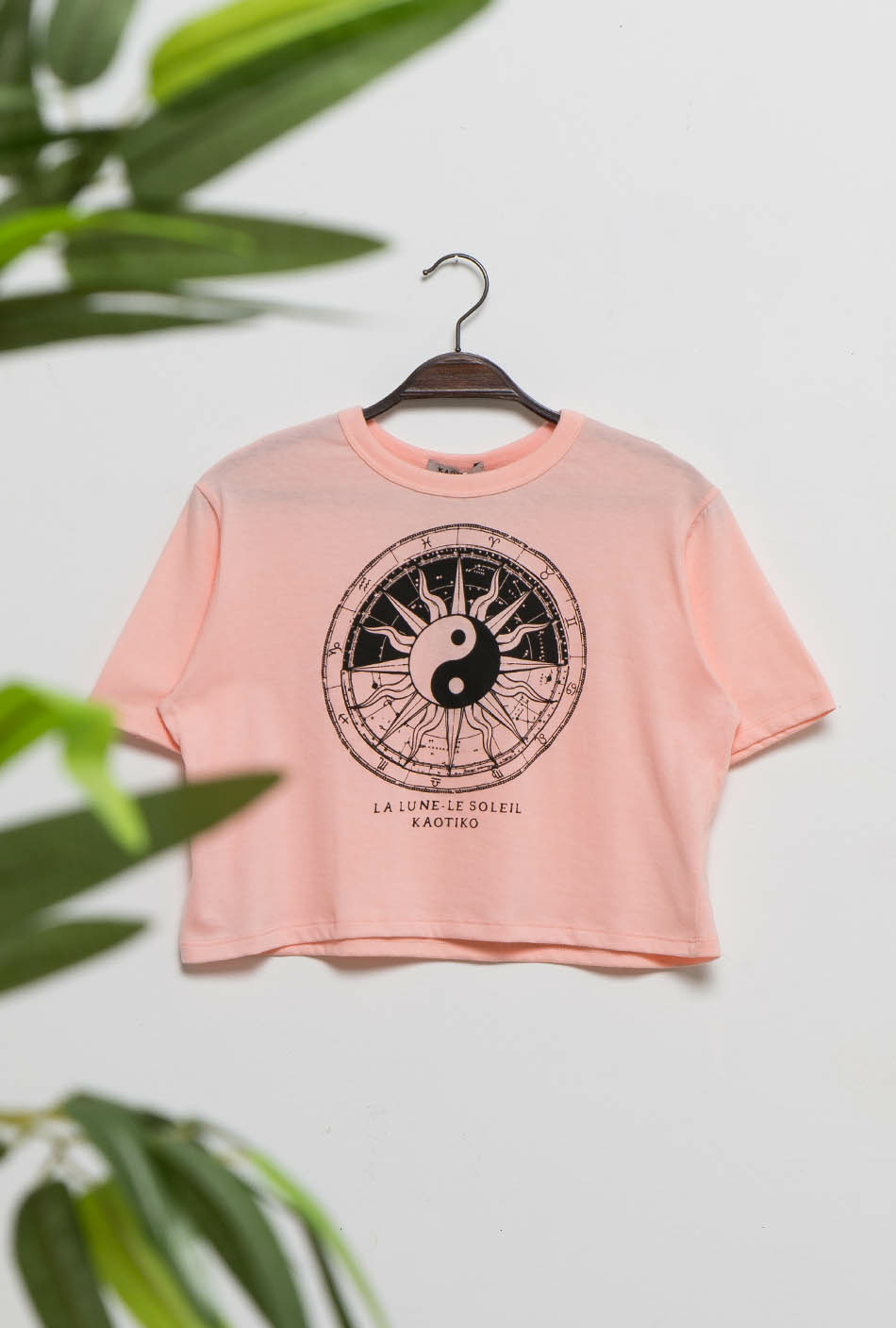 Yin Yang peach colour t-shirt