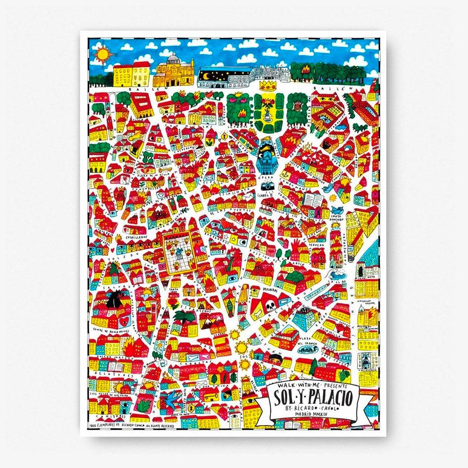 Madrid-Sol y Palacio Map