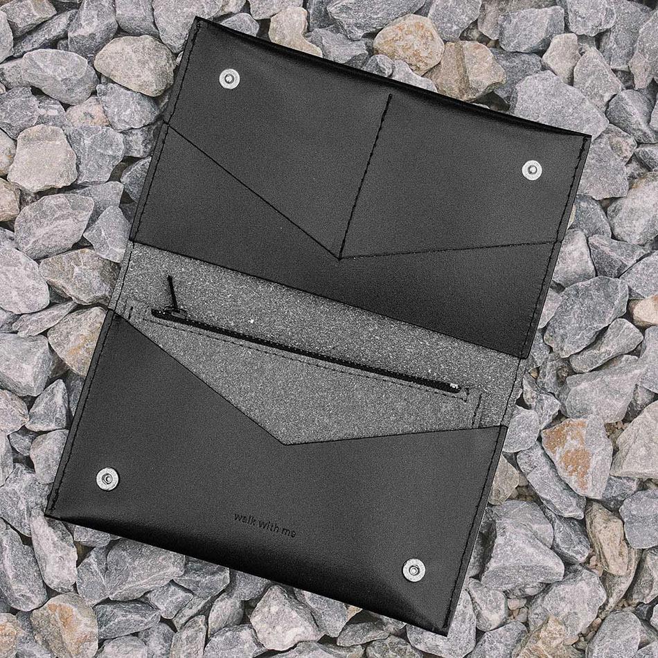 Flat Purse Black Bag