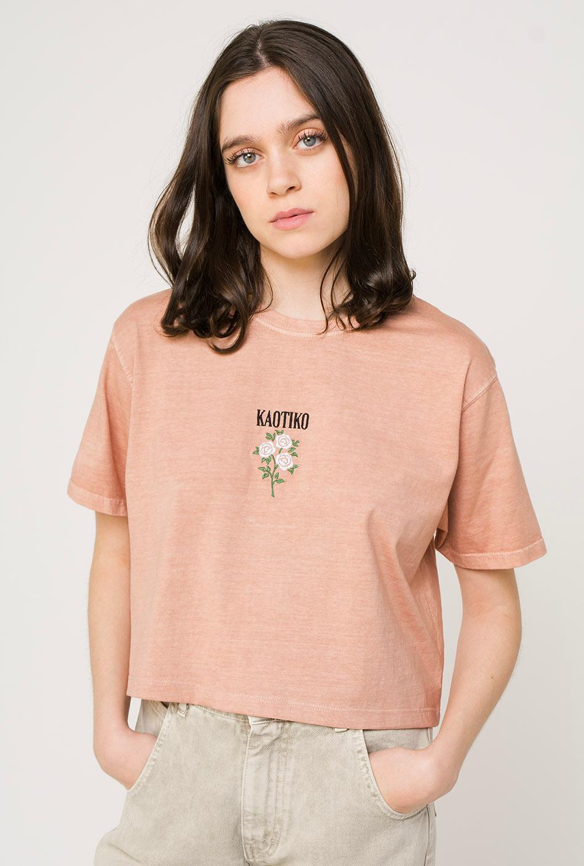 Roses Tie-Dye Nude T-Shirt