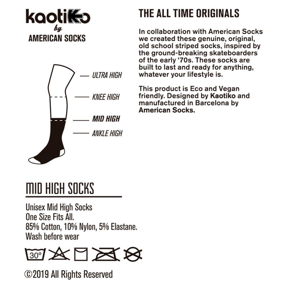 Kaotiko Colors Mustard Socks